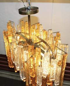 Venini 1960s Mid Century Modern Venini Glass Oval Chandelier - 1806181