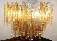 Venini 1960s Mid Century Modern Venini Glass Oval Chandelier - 1806182