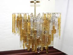 Venini 1960s Mid Century Modern Venini Glass Oval Chandelier - 1806187