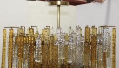 Venini 1960s Mid Century Modern Venini Glass Oval Chandelier - 1806189