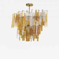 Venini 1960s Mid Century Modern Venini Glass Oval Chandelier - 1807435