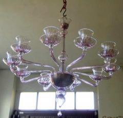 Venini 1970s Murano chandelier by Venini - 909315