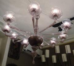 Venini 1970s Murano chandelier by Venini - 909317