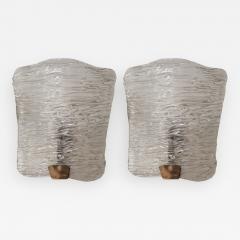 Venini A pair of brass and glass sconces by Venini Italy 50 - 998616