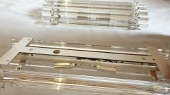 Venini Clear Murano glass Mid Century Modern geometric sconces by Venini Italy 1970s - 1813386