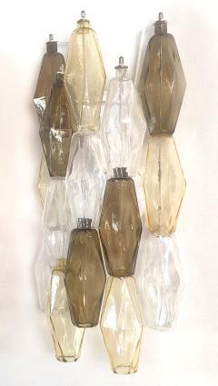 Venini Colored Poliedri Mid Century Modern Murano glass wall sconces Venini Italy 1970 - 2132063