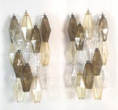 Venini Colored Poliedri Mid Century Modern Murano glass wall sconces Venini Italy 1970 - 2132064