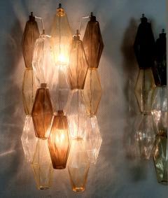 Venini Colored Poliedri Mid Century Modern Murano glass wall sconces Venini Italy 1970 - 2132066
