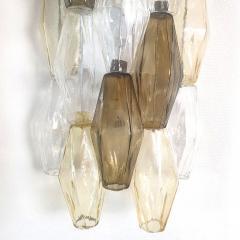 Venini Colored Poliedri Mid Century Modern Murano glass wall sconces Venini Italy 1970 - 2132069