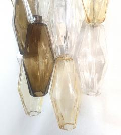 Venini Colored Poliedri Mid Century Modern Murano glass wall sconces Venini Italy 1970 - 2132070