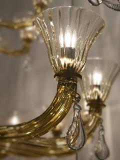 Venini Extraordinary Amber Venini Murano Chandelier 1960 - 634059