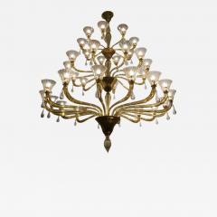 Venini Extraordinary Amber Venini Murano Chandelier 1960 - 636056