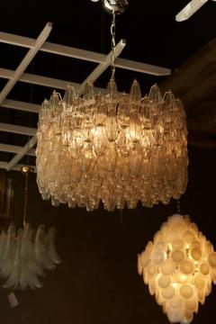 Venini Huge Polyhedral Murano Glass Drum Chandelier in the Manner of Venini - 1098351