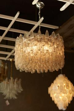Venini Huge Polyhedral Murano Glass Drum Chandelier in the Manner of Venini - 1098355