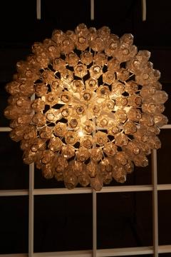 Venini Huge Polyhedral Murano Glass Drum Chandelier in the Manner of Venini - 1098357