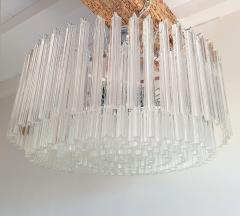 Venini Large Drum Triedri Murano glass Mid Century Modern chandelier flush mount Venini - 2132076