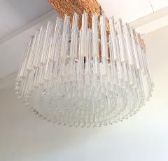 Venini Large Drum Triedri Murano glass Mid Century Modern chandelier flush mount Venini - 2132078