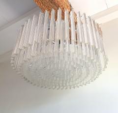 Venini Large Drum Triedri Murano glass Mid Century Modern chandelier flush mount Venini - 2132079