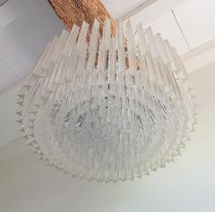 Venini Large Drum Triedri Murano glass Mid Century Modern chandelier flush mount Venini - 2132080