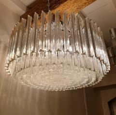 Venini Large Drum Triedri Murano glass Mid Century Modern chandelier flush mount Venini - 2132082