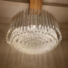 Venini Large Drum Triedri Murano glass Mid Century Modern chandelier flush mount Venini - 2132084