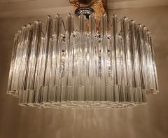 Venini Large Drum Triedri Murano glass Mid Century Modern chandelier flush mount Venini - 2132085