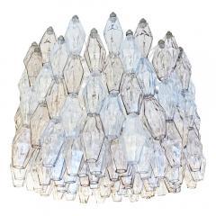 Venini Large Venini Poliedri Murano Glass Chandelier - 1573292