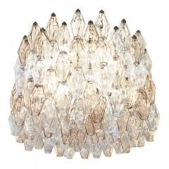 Venini Large Venini Poliedri Murano Glass Chandelier - 1573293