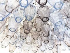 Venini Large Venini Poliedri Murano Glass Chandelier - 1573301