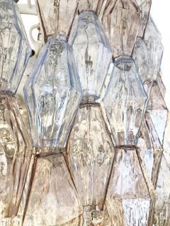 Venini Large Venini Poliedri Murano Glass Chandelier - 1573314