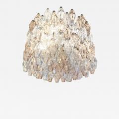 Venini Large Venini Poliedri Murano Glass Chandelier - 1573816