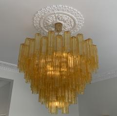 Venini Large amber Claridges chandelier in the style of Venini - 1644017
