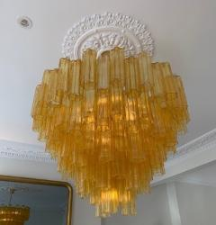 Venini Large amber Claridges chandelier in the style of Venini - 1644019