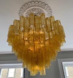 Venini Large amber Claridges chandelier in the style of Venini - 1644021