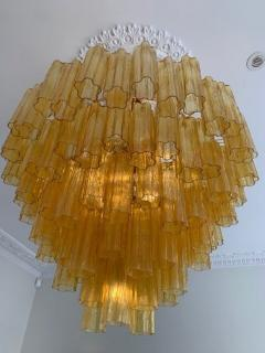 Venini Large amber Claridges chandelier in the style of Venini - 1644024