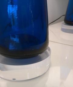 Venini Mid Century Modern Italian Signed Murano Glass w Lucite Bases Table Lamps - 964836