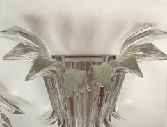 Venini Mid Century Modern Large clear Murano glass chrome sconces by Venini Italy - 2030819