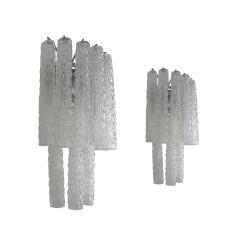 Venini Mid Century Modern Venini Murano Glass Set of Four Italian Sconces 1960s - 2135034