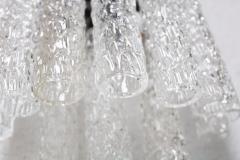 Venini Mid Century Modern Venini Murano Glass Set of Four Italian Sconces 1960s - 2135043
