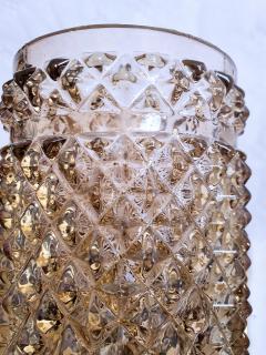 Venini Mid Century Venini style pairs of beige black Murano glass sconces Italy 1970s - 2086574