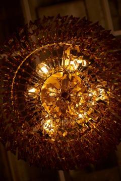 Venini Monumental Amber Murano Glass Chandelier or Flush Mount Attributed to Venini - 1101214