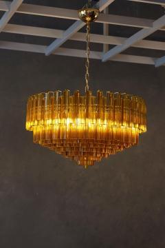 Venini Monumental Amber Murano Glass Chandelier or Flush Mount Attributed to Venini - 1101216