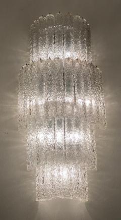 Venini Monumental Italian Murano Glass Chandelier or Ceiling Light Attr Venini 1970 - 2057478