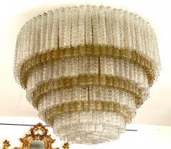 Venini Monumental Italian Murano Glass Chandelier or Ceiling Light Attr Venini 1970 - 2057481