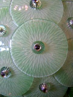 Venini Monumental Pair of Italian Modern Hand Blown Glass Polished Nickel Wall Lights - 1167660