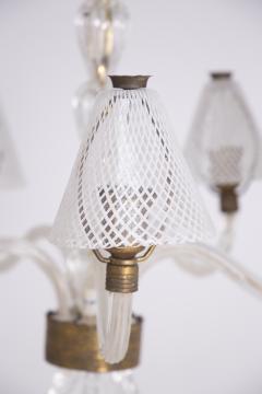 Venini Murano Glass Chandelier in Reticello Technique by Venini 1950s - 2054756