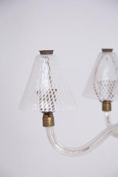 Venini Murano Glass Chandelier in Reticello Technique by Venini 1950s - 2054757