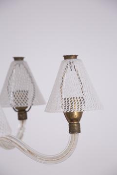 Venini Murano Glass Chandelier in Reticello Technique by Venini 1950s - 2054758