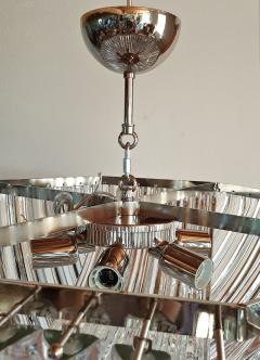 Venini Octogonal Mid Century Modern Clear Murano Glass Chandelier by Venini Italy 80s - 2009606