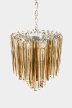 Venini Original Venini Tiered Amber Clear Glass Chandelier from Trilobo Series - 763331